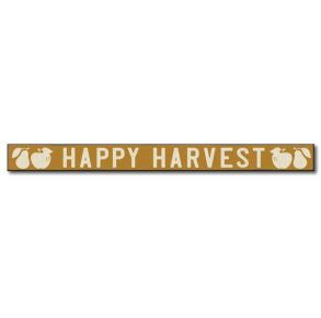 My Word! Skinny Wooden Sign - Happy Harvest Front View